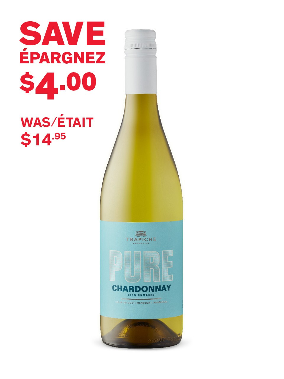 Image for Trapiche Pure Chardonnay from LCBO