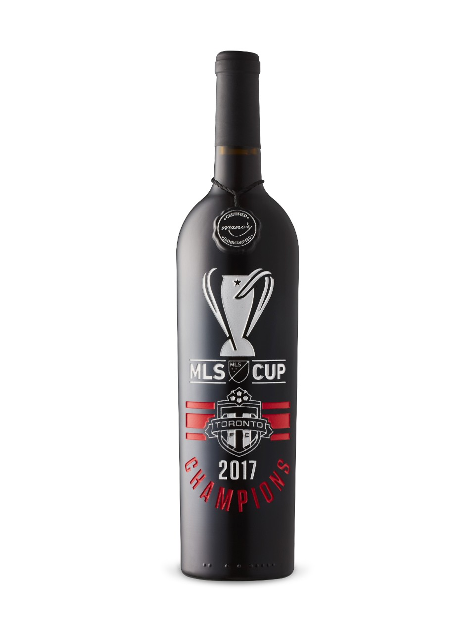 Image for Toronto FC MLS Cup 2017 Champions Etched Red Blend from LCBO