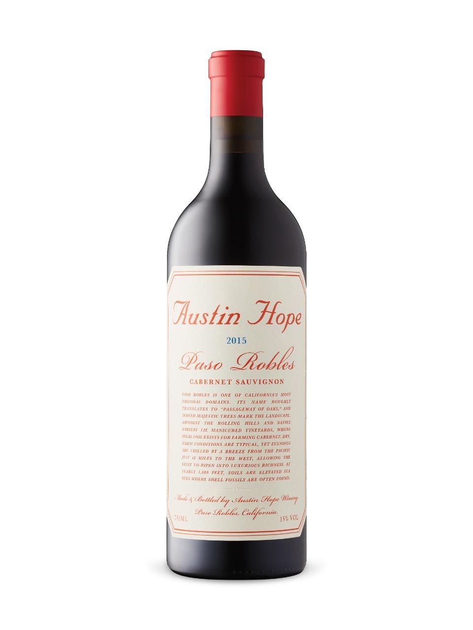 Austin Hope Cabernet Sauvignon 2015 Lcbo