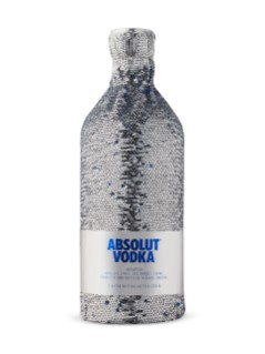 Absolut Silver Sequin Ltd Edition Bottle