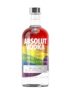 Absolut Rainbow Ltd Bottle