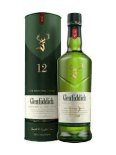 Whisky écossais Glenfiddich Single Malt 12 ans d'âge