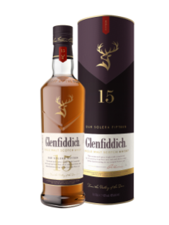 Whisky écossais Single Malt Glenfiddich 15 ans d'âge