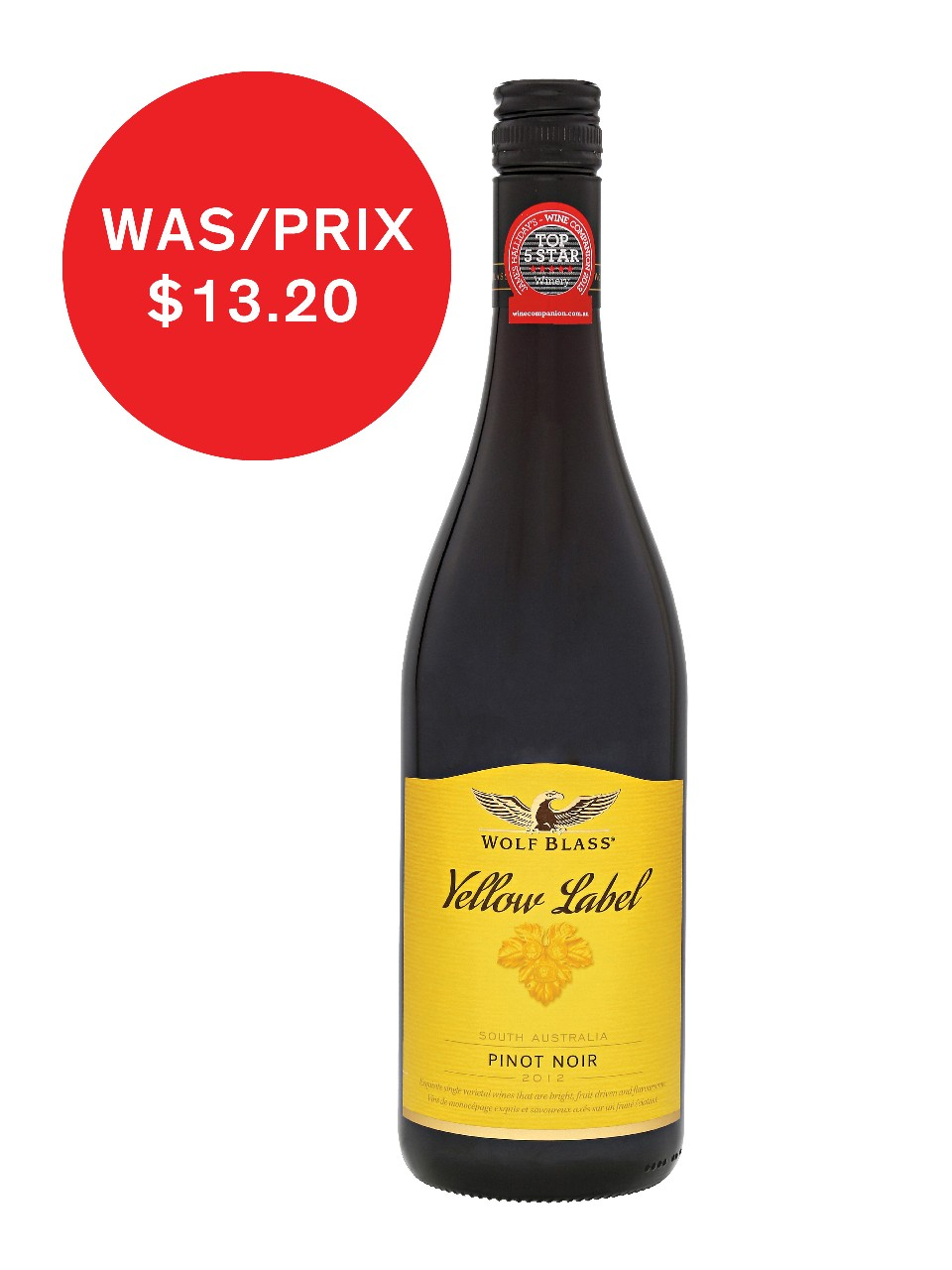 Image for Wolf Blass Yellow Label Pinot Noir from LCBO