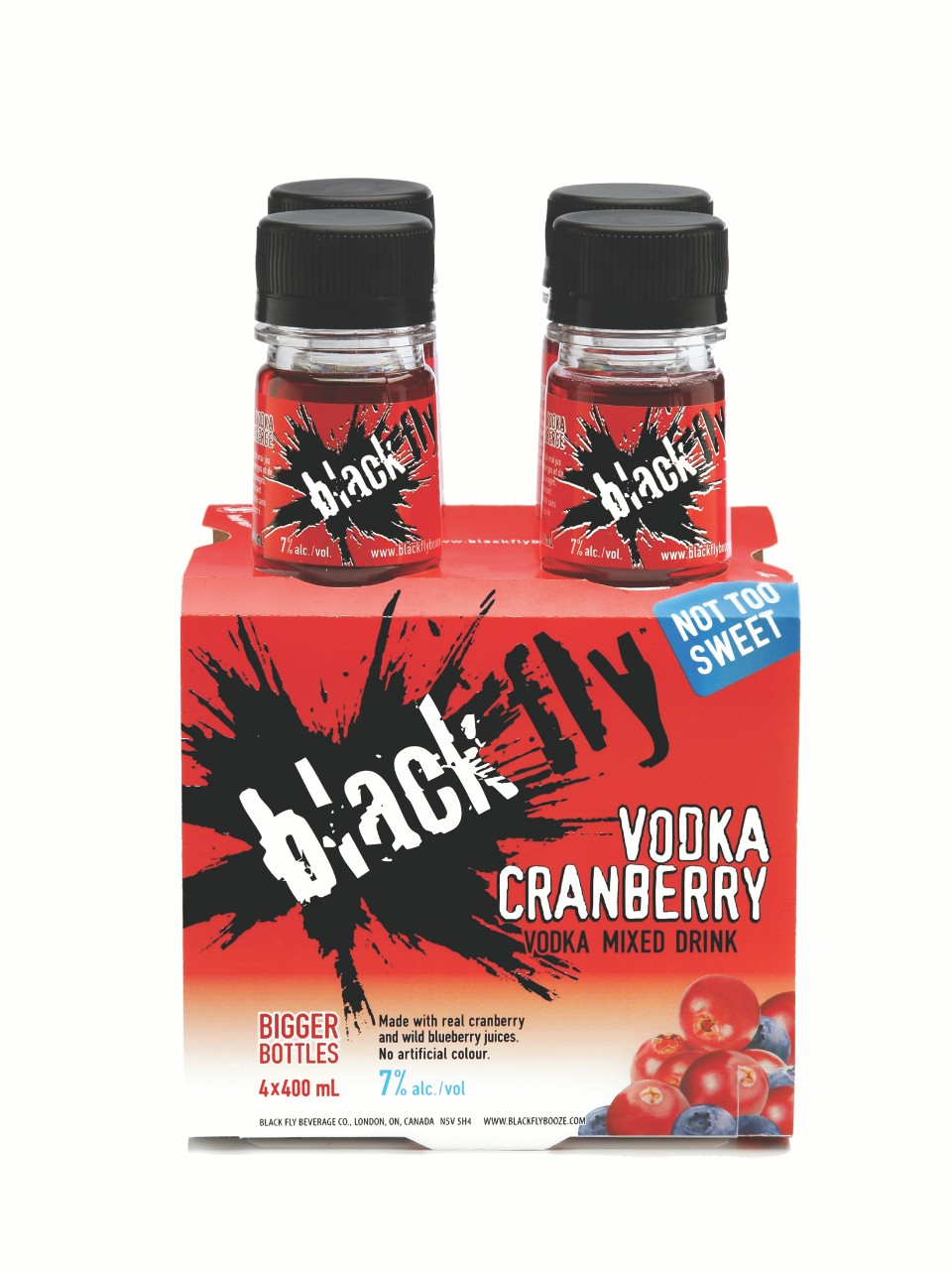 Image for Black Fly Vodka Cranberry (PET) from LCBO