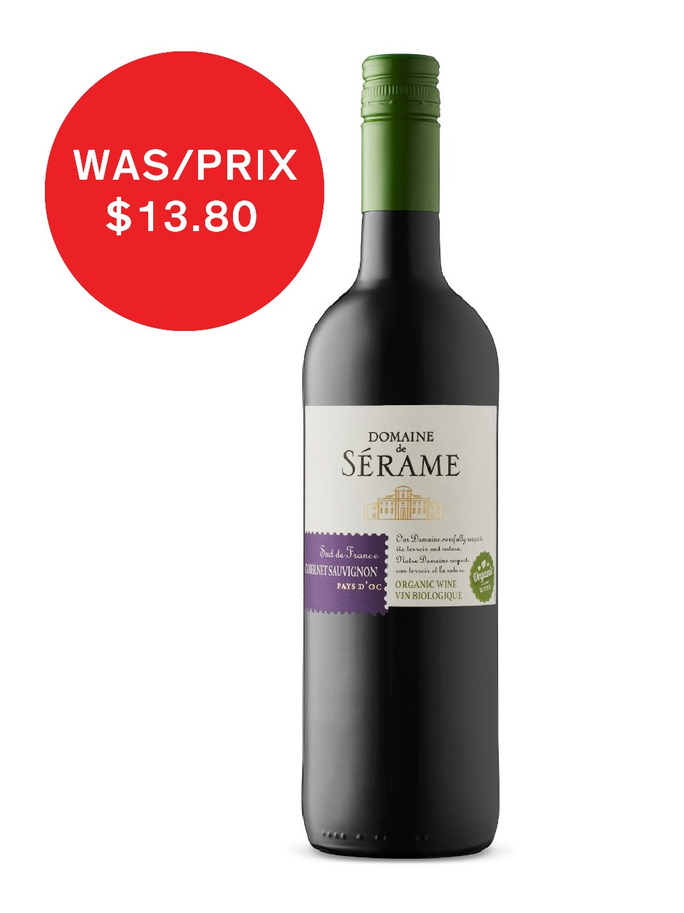 Image for Domaine De Serame Cab Sauv Organic Pays D'Oc IGP from LCBO