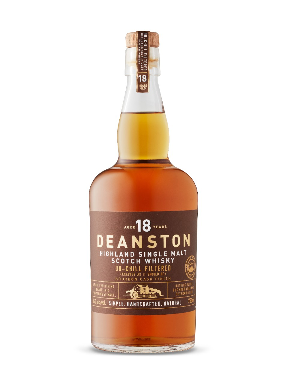 Whisky écossais Single Malt Deanston 18 ans d'âge Finition en fût de bourbon