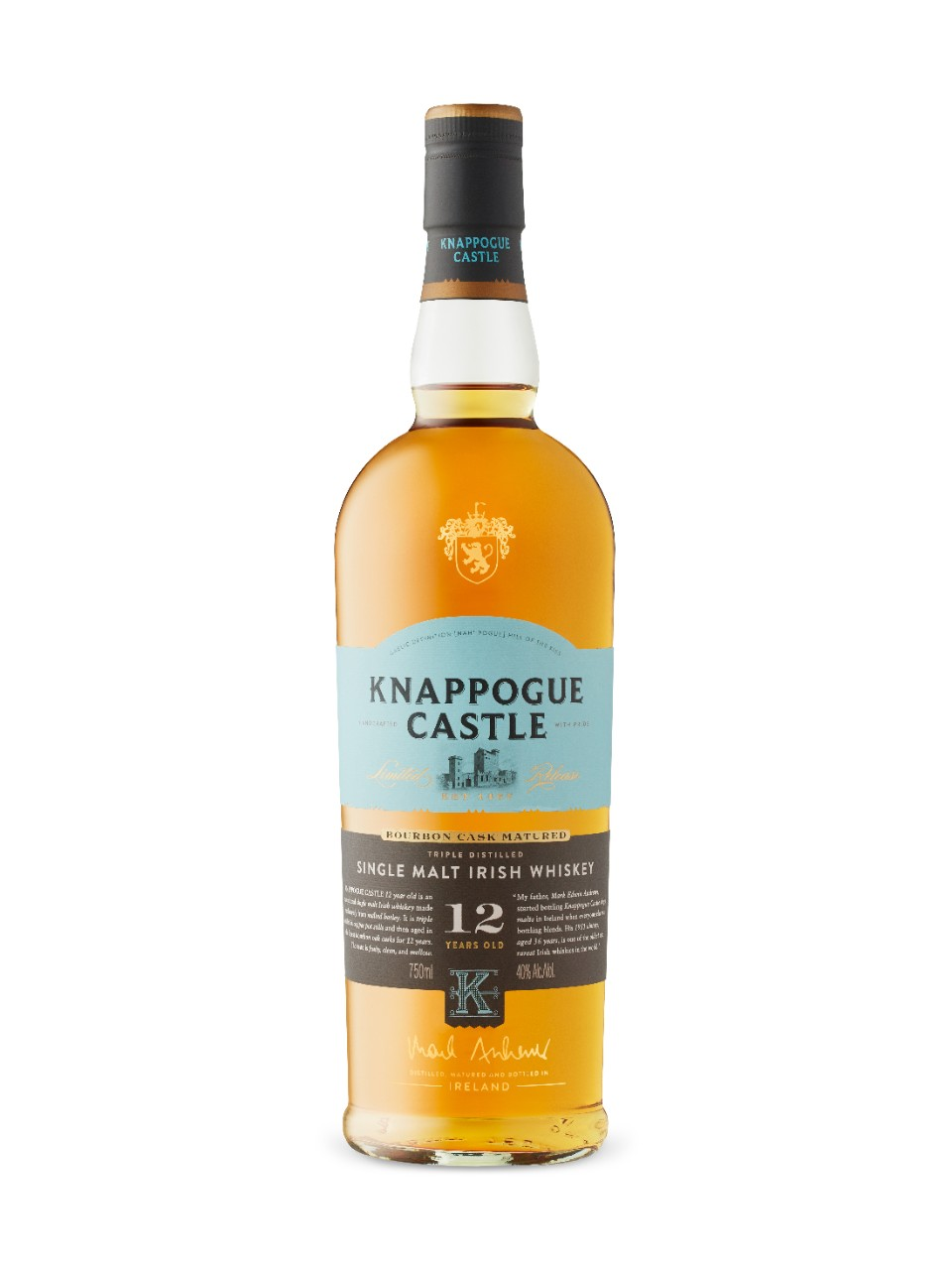 12 Yo Knappogue Castle Irish Single Malt Whiskey from LCBO