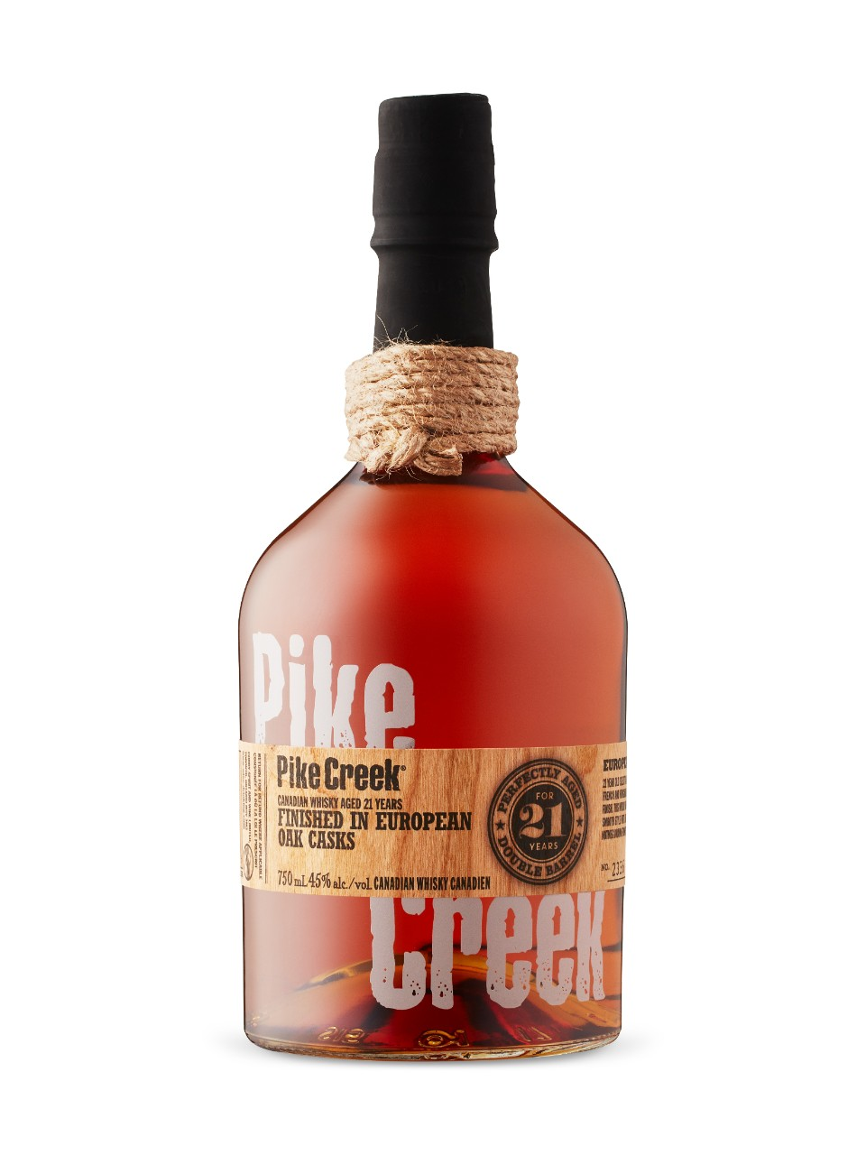 Image for Pike Creek 21 Year Old European Oak Cask Canadian Whisky from LCBO