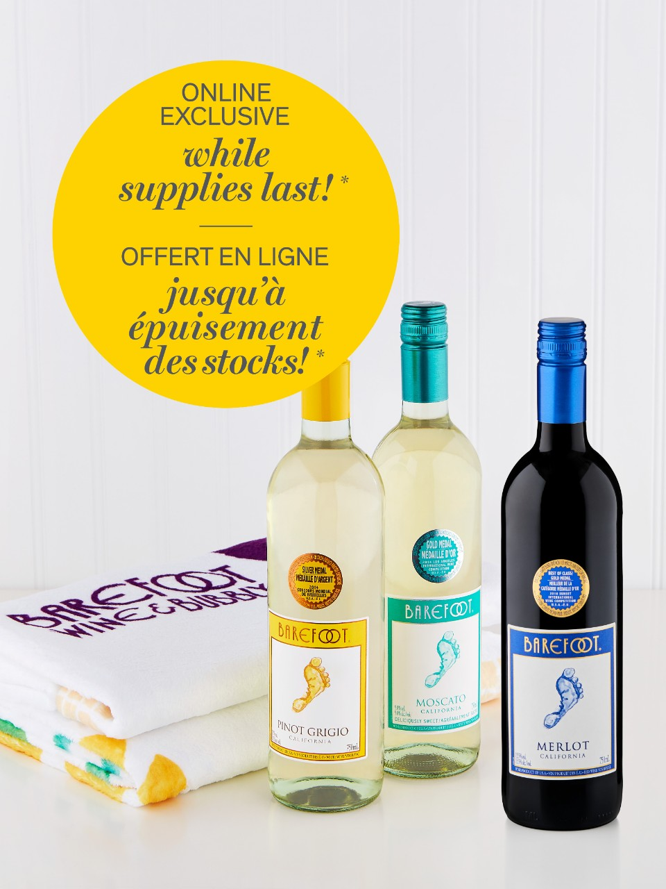 Barefoot Trio Wine Special Offer
