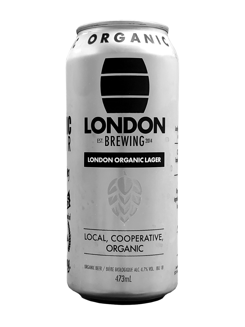 London Brewing Organic Lager from LCBO