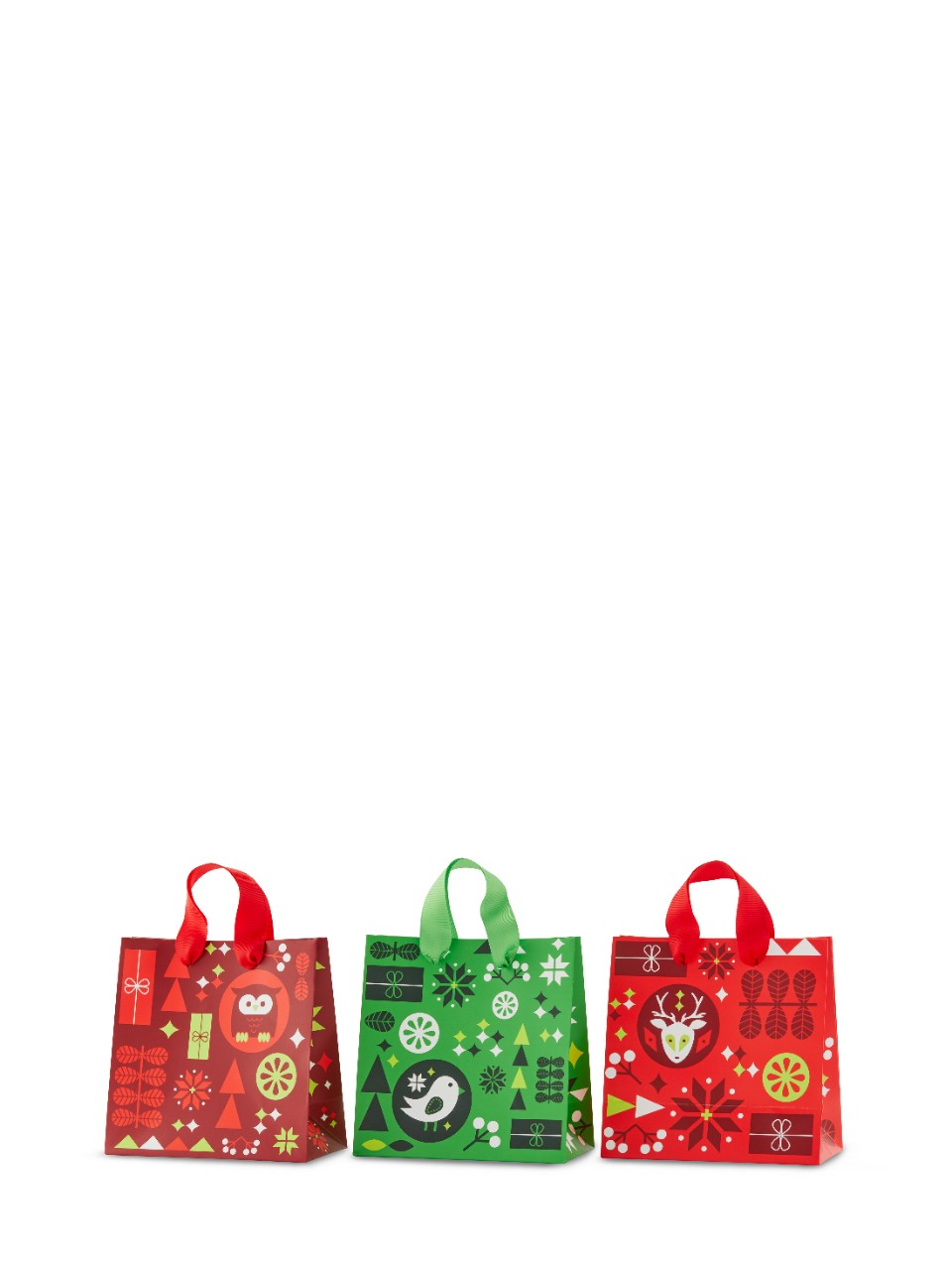 Holiday Mini Gift Bag 3 Pack