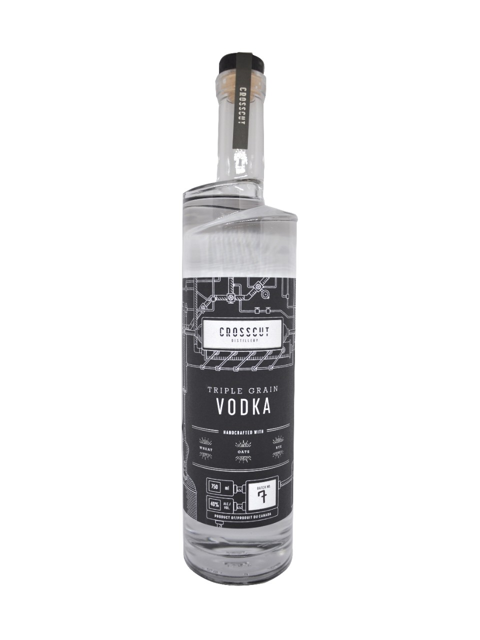 Crosscut Distillery Triple Grain Vodka