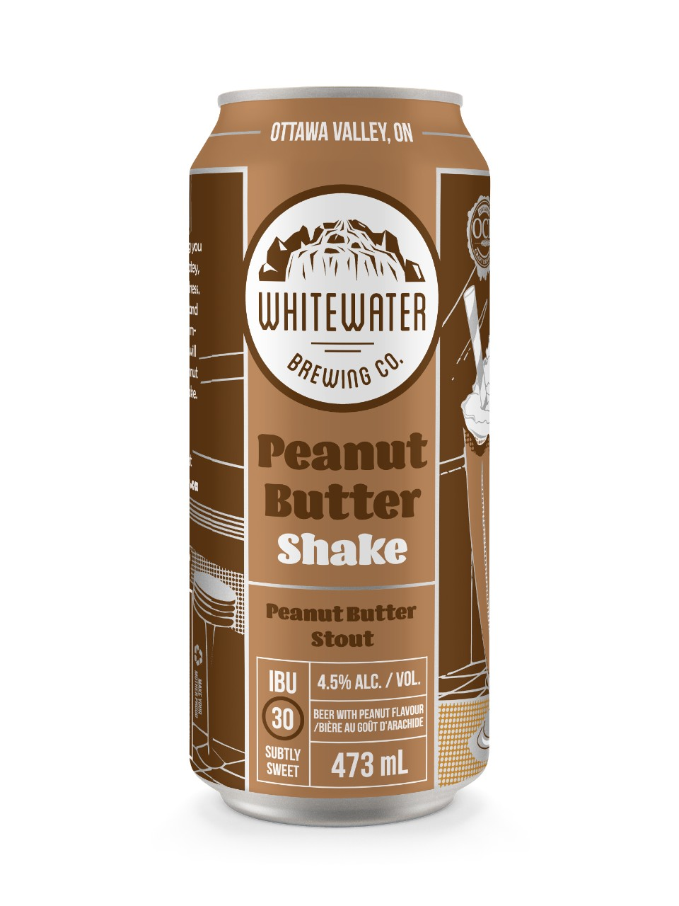 Image for Whitewater Brewing Co. Peanut Butter Shake from LCBO