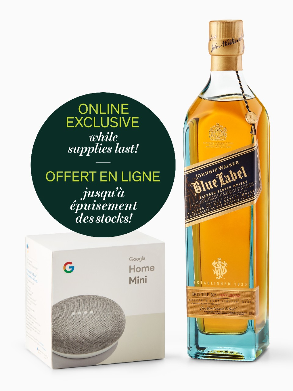 Johnnie Walker Blue With Google Home Mini