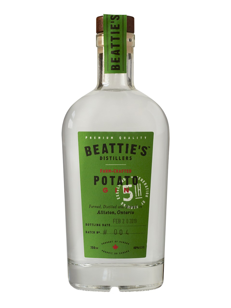 Image for Beattie's Farm Crafted Potato Gin from LCBO