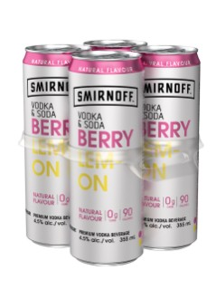 Smirnoff Vodka & Soda Berry Lemon