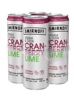 Smirnoff Vodka & Soda Cranberry Lime