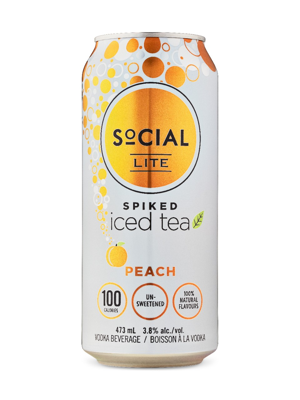 Image for SoCIAL LITE Spiked Peach Iced Tea from LCBO