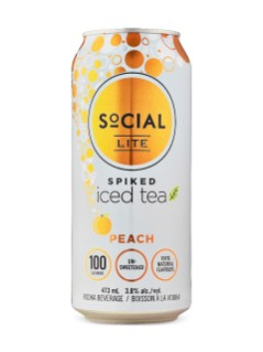SoCIAL LITE Spiked Peach Iced Tea