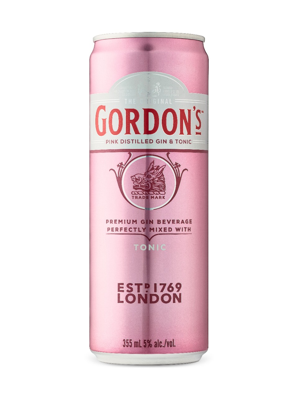 Image for Gordon's Pink Gin & Tonic from LCBO