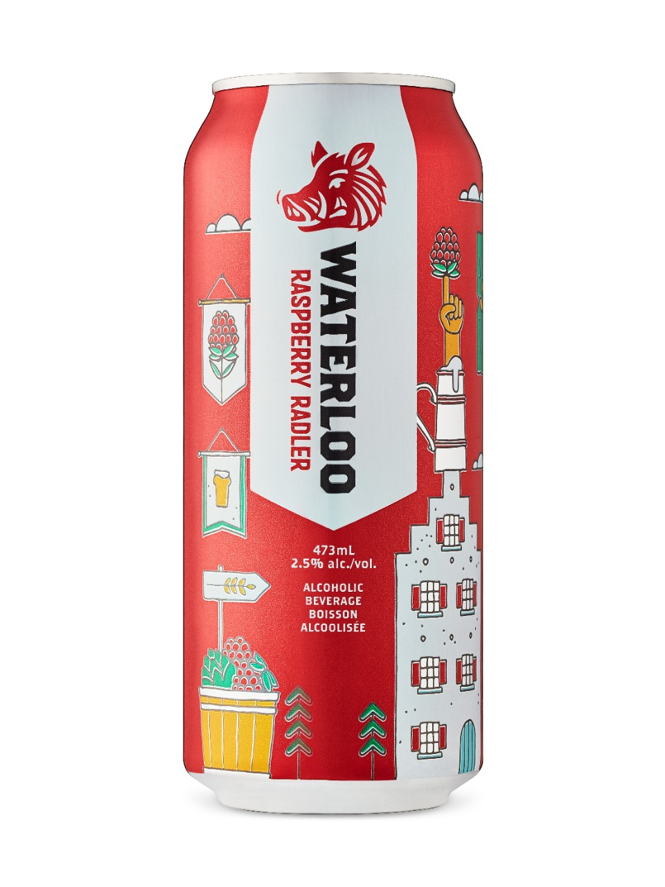 Image for Waterloo Raspberry Radler from LCBO