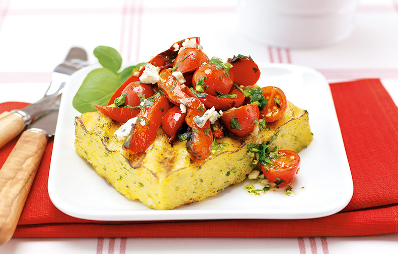 grilled-polenta-and-peppers-with-grape-tomatoes