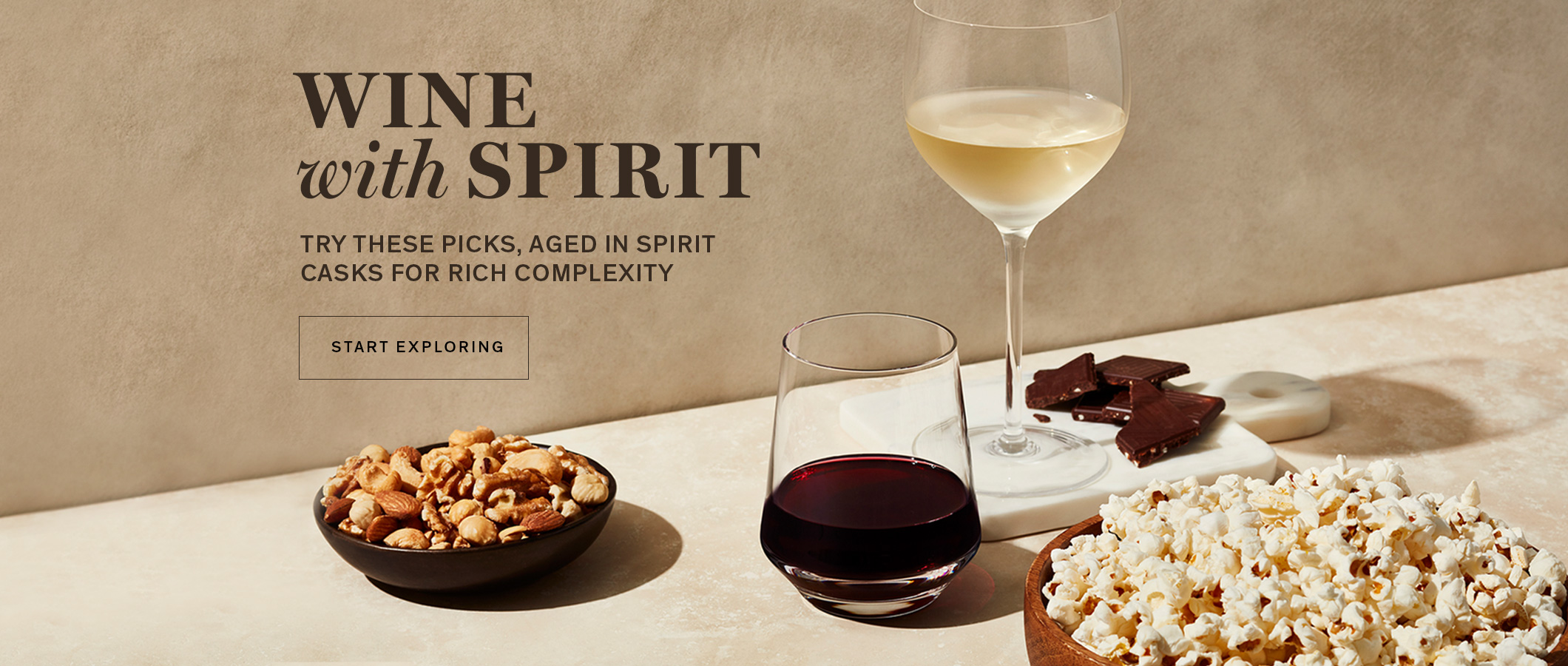 Wine with Spirit Try - These Picks, Aged in Spirit Casks for Rich Complexity. START EXPLORING