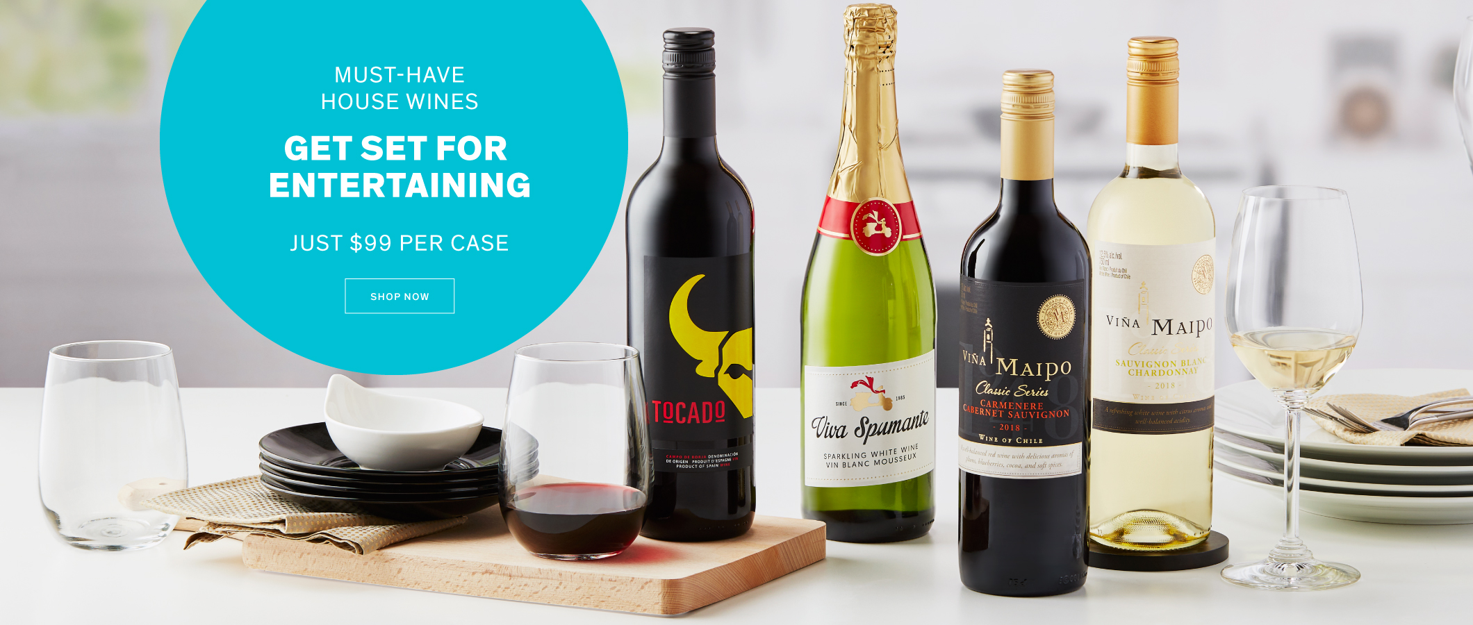 Must-Have House Wines  Get Set for Entertaining — Just $99 per Case. Shop Now