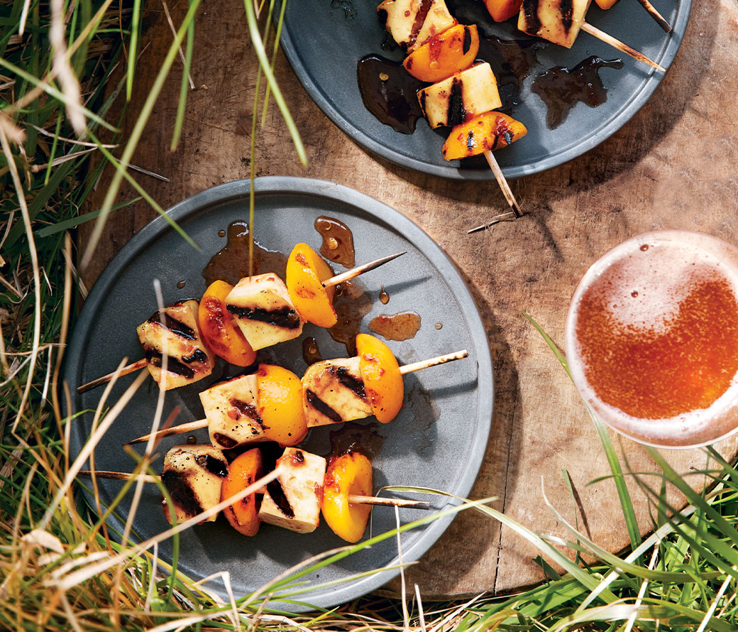 Apricot & Halloumi Skewers