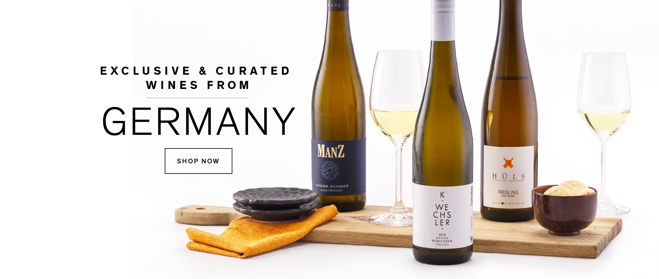 Discover our exclusive collection of wines from Germany