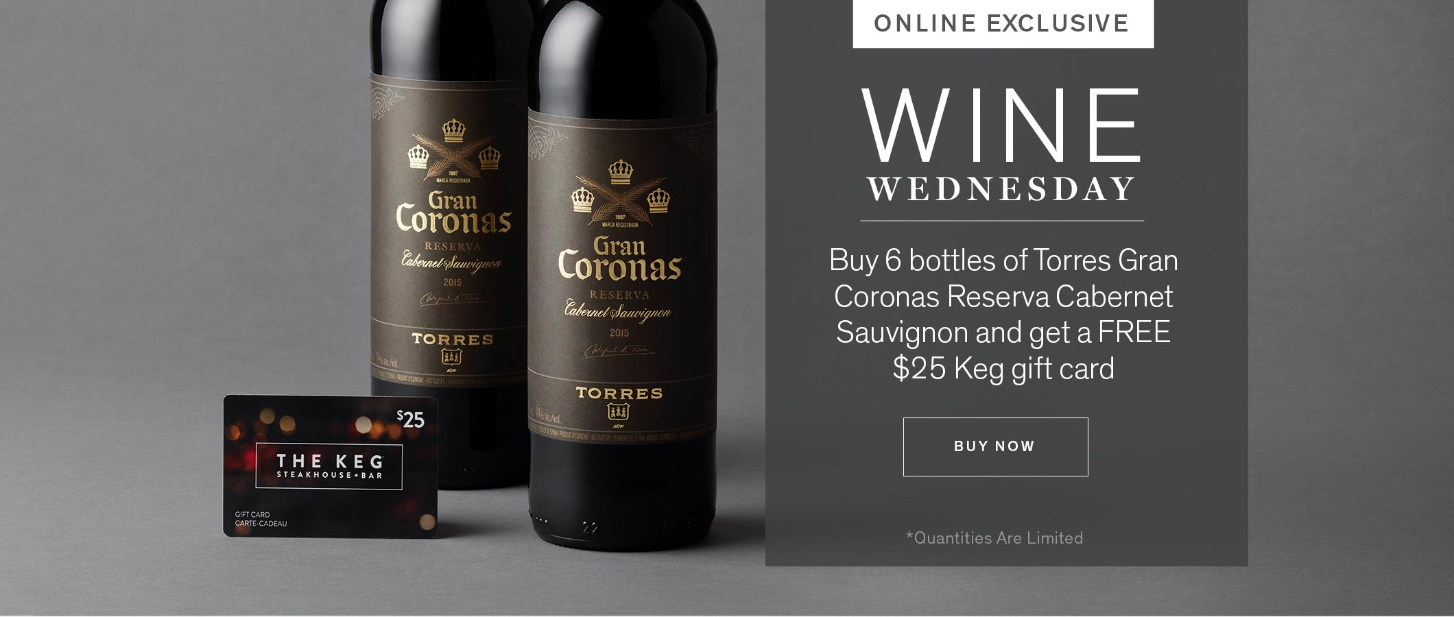 WINE WEDNESDAY. ONLINE EXCLUSIVE. BUY NOW.